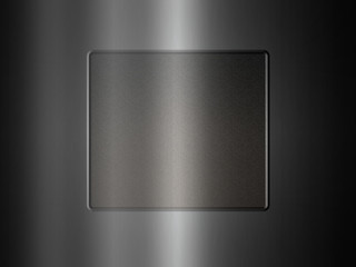 Brushed metal frame