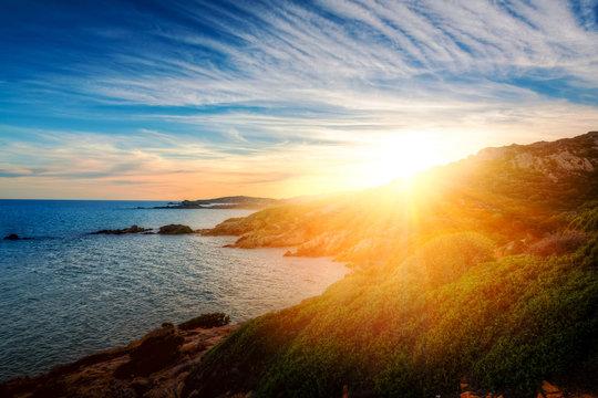 Sonnenuntergang in Chia - Sardegna