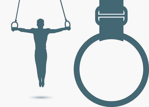 Gymnastic rings background