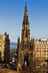 The Scott Monument, Edinburgh, Scotland.