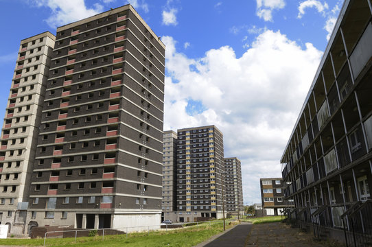 Tower block council housing in the UK