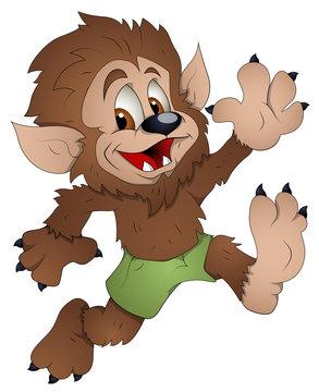 Cute Werewolf - Cartoon Character - Vector Illustration