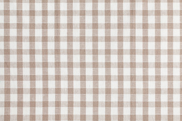 Ordinaire Beige Checkered Fabric. Tablecloth Texture