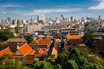 Bangkok view from Golden Mount
