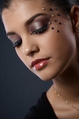 Woman in glamorous makeup