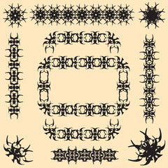 calligraphic vector set