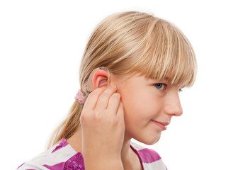 Hearing Aid and a girl