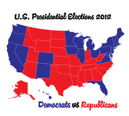 WEB ART DESIGN US presidential election USA  2012  democrat  010