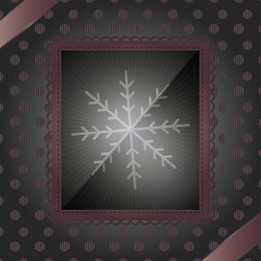 Photo frame and snowflake