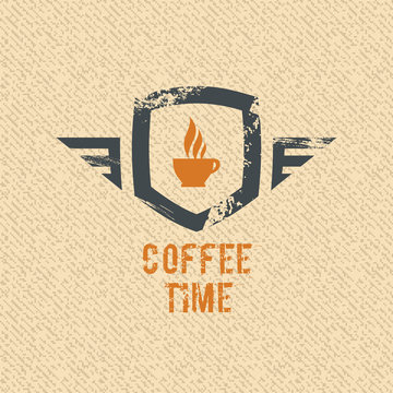 Coffee time label