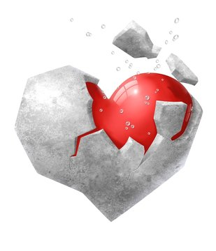 cuore nella pietra