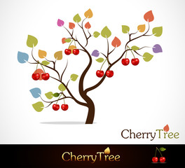 Colorful cherry tree