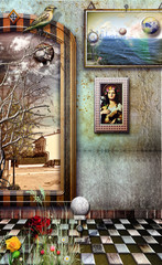 Garden Poster Imagination Reverie