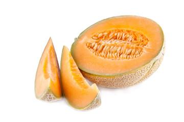 sweet melon isolated on white background