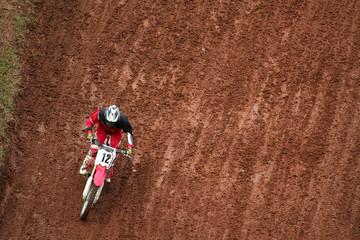 Fotomurales - Man on motocross