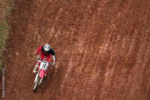 Fototapete Man on motocross