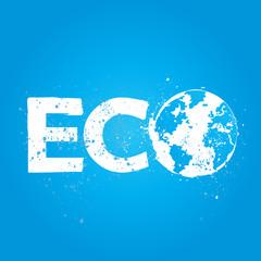 grunge eco concept illustration