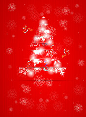 abstract modern christmas tree background