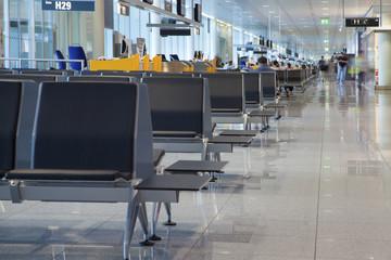 Airport terminal waiting lounge