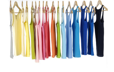 colors of rainbow. Variety of casual peignoir