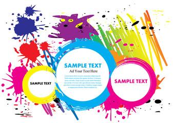 ink paint colorful design vector illustration