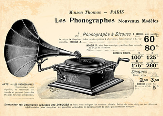 Wall Mural - Le gramophone