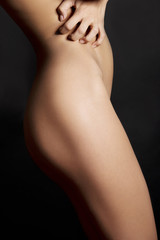 Naked sensual beautiful girl. Artistic color photo.