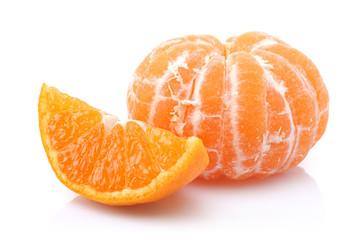 Sliced and peeled Tangerine