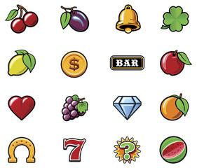 Vector slot machine symbols set