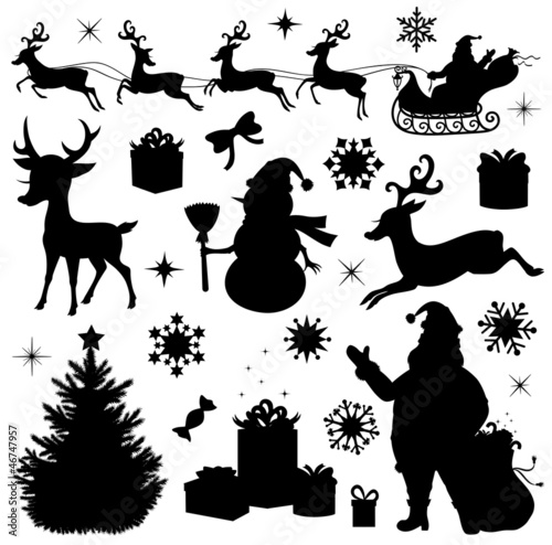 Quot Collection Of A Christmas Silhouettes Quot Stockfotos Und