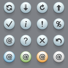 Internet icons for web site, set 7.