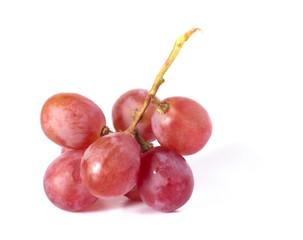 fresh purple grape  on white background
