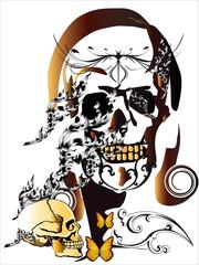 art skull design