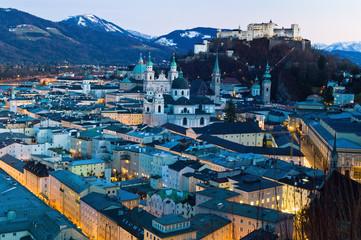 Salzburg, Österreich, Stadt Ansicht