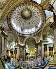 Ancient architectural masterpiece of Pantheon in Paris, France
