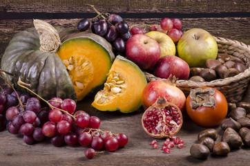 frutti e colori d'autunno