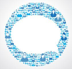 Social Network Open Speech Bubble