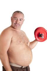 Fat playing sports
