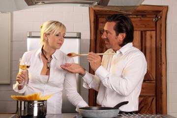 Kochen zu zweit
