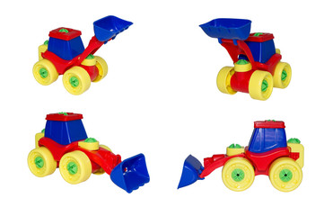 Toy, the bulldozer for snow and ground loading.