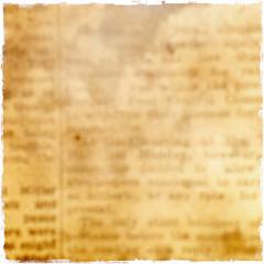 Words on old newspaper