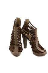 female high heeled strappy stiletto sandals