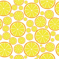 Fruit design seamless pattern. Vector illustration. EPS 10.
