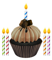 cupcake and candles