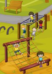 kids and monkey bar