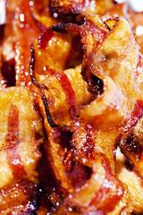 Closeup of Bacon Slices