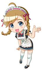 女の子/メイド服01