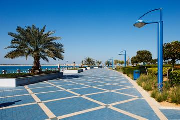 The Corniche promenade of Abu Dhabi