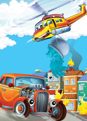 Wall Murals Cars The car and the flying machine