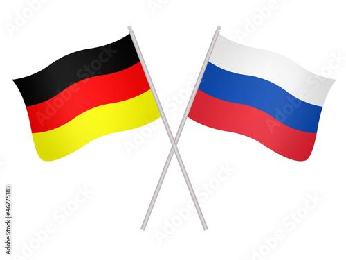 deutsche und russische fahnen stockfotos und lizenzfreie bilder auf bild 46775183. Black Bedroom Furniture Sets. Home Design Ideas